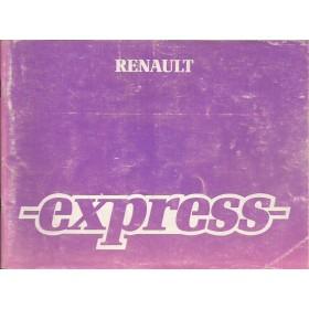 Renault Express Instructieboekje   Benzine/Diesel Fabrikant 87 met gebruikssporen   Nederlands