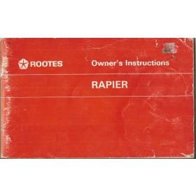 Rootes Rapier Instructieboekje   Benzine Fabrikant 67 ongebruikt   Engels