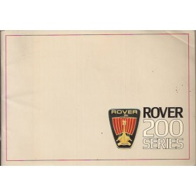 Rover 200-series Instructieboekje   Benzine Fabrikant 84 met gebruikssporen   Engels
