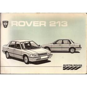 Rover 213 Instructieboekje   Benzine Fabrikant 86 met gebruikssporen   Nederlands