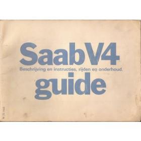 Saab 96 V4 Instructieboekje   Benzine Fabrikant 75 met gebruikssporen   Nederlands