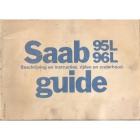 Saab 95L/96L Instructieboekje   Benzine Fabrikant 77 met gebruikssporen   Nederlands
