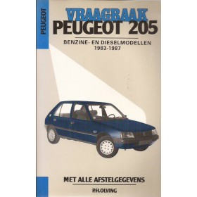 Peugeot 205 Vraagbaak P. Olving  Benzine/Diesel Kluwer 83-87 nieuw    Nederlands