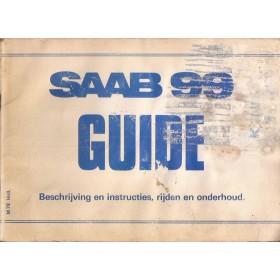 Saab 99 Instructieboekje   Benzine Fabrikant 78 met gebruikssporen lichte vochtschade  Nederlands
