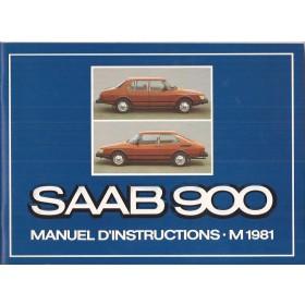 Saab 900 Instructieboekje   Benzine Fabrikant 81 ongebruikt in originele map  Frans
