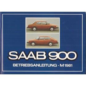 Saab 900 Instructieboekje   Benzine Fabrikant 81 ongebruikt in originele map  Duits