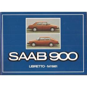 Saab 900 Instructieboekje   Benzine Fabrikant 81 ongebruikt in originele map  Italiaans