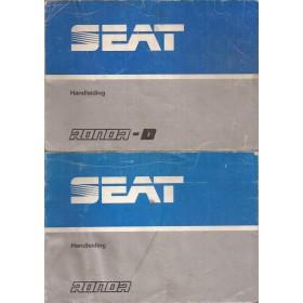 Seat Ronda Instructieboekje   Benzine/Diesel Fabrikant 83 met gebruikssporen   Nederlands