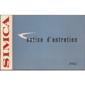 Simca Etoile/Monaco/Chatelaine/Ranch/Plein Ciel/Oceane Instructieboekje   Benzine Fabrikant 61 ongebruikt   Frans
