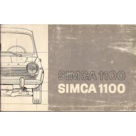 Simca 1100 Instructieboekje   Benzine Fabrikant 69 met gebruikssporen   Nederlands