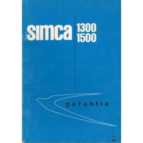 Simca 1300/1500 Onderhoudsboekje   Benzine Fabrikant 64 ongebruikt   Nederlands