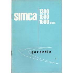 Simca 1300/1500/Break Onderhoudsboekje   Benzine Fabrikant 64 ongebruikt   Nederlands
