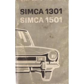 Simca 1301/1501 Instructieboekje   Benzine Fabrikant 71 met gebruikssporen   Nederlands