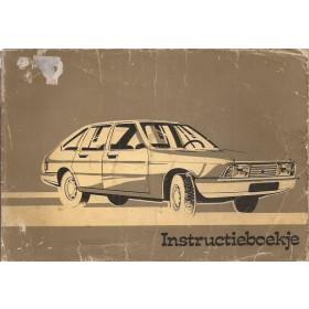 Simca 1307/1308 Instructieboekje   Benzine Fabrikant 75 met gebruikssporen   Nederlands