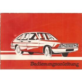 Simca 1307/1308 Instructieboekje   Benzine Fabrikant 75 met gebruikssporen   Duits