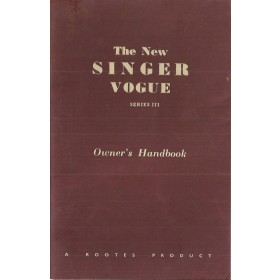 Singer Vogue series III Instructieboekje   Benzine Fabrikant 64 met gebruikssporen   Engels