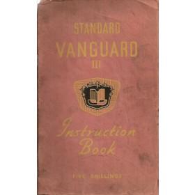 Standard Vanguard III Instructieboekje   Benzine Fabrikant 50 met gebruikssporen   Engels