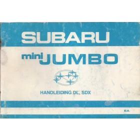 Subaru Mini Jumbo Instructieboekje   Benzine Fabrikant 83 met gebruikssporen   Nederlands