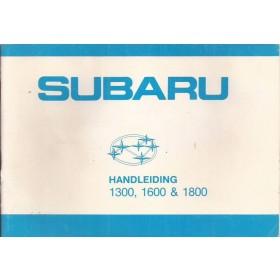 Subaru 1300/1600/1800 Instructieboekje   Benzine Fabrikant 83 ongebruikt   Nederlands