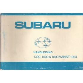 Subaru 1300/1600/1800 Instructieboekje   Benzine Fabrikant 83 met gebruikssporen   Nederlands