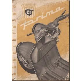 NSU Prima Instructieboekje  150cc Mengsmering  56 met gebruikssporen   Nederlands