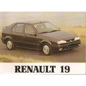 Renault 19 Instructieboekje   Benzine/Diesel Fabrikant 94 ongebruikt   Nederlands