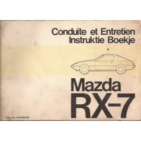 Mazda RX-7 Instructieboekje   Benzine Fabrikant 79 met gebruikssporen   Nederlands/Frans