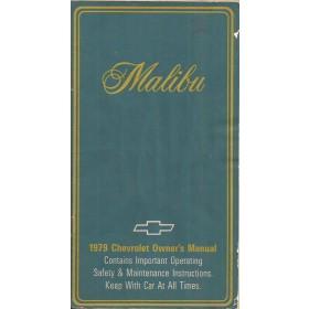 Chevrolet Malibu Instructieboekje   Benzine Fabrikant 79 ongebruikt   Engels