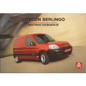 Citroen Berlingo VU Instructieboekje   Benzine/Diesel Fabrikant 03 ongebruikt   Nederlands