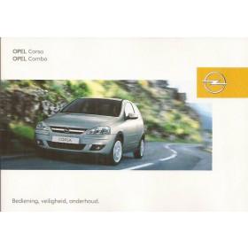 Opel Corsa C / Combo Instructieboekje   Benzine/Diesel Fabrikant 03 ongebruikt   Nederlands