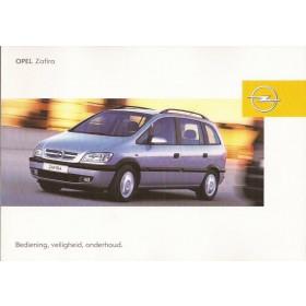 Opel Zafira A Instructieboekje   Benzine/Diesel Fabrikant 03 ongebruikt   Nederlands