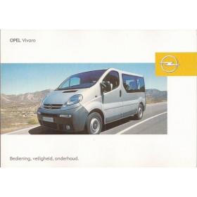 Opel Vivaro Instructieboekje   Benzine/Diesel Fabrikant 04 ongebruikt   Nederlands