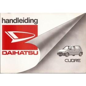 Daihatsu Cuore Instructieboekje Benzine Fabrikant 90 met gebruikssporen Nederlands
