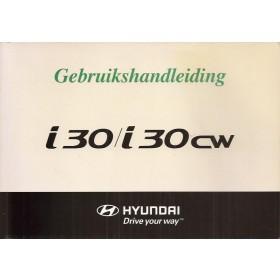 Hyundai i30 i30CW Instructieboekje Benzine/Diesel Fabrikant 08 met gebruikssporen   Nederlands