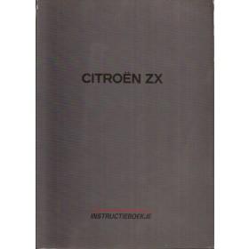 Citroen ZX Instructieboekje Benzine/Diesel Fabrikant 95 met gebruikssporen Nederlands