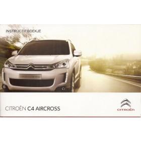 Citroen C4 Aircross Instructieboekje Benzine/Diesel Fabrikant 12 ongebruikt Nederlands