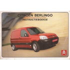 Citroen Berlingo VU Instructieboekje   Benzine/Diesel Fabrikant 02 met gebruikssporen  Nederlands