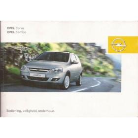 Opel Corsa C / Combo Instructieboekje   Benzine/Diesel Fabrikant 04 met gebruikssporen   Nederlands