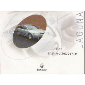 Renault Laguna Instructieboekje Benzine/Diesel Fabrikant 00 met gebruikssporen in originele map Nederlands