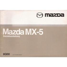 Mazda MX-5 Instructieboekje Benzine Fabrikant 00 met gebruikssporen los in kaft Duits