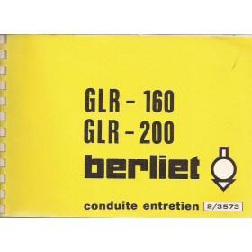 Berliet GLR Instructieboekje Diesel Fabrikant 76 ongebruikt Frans