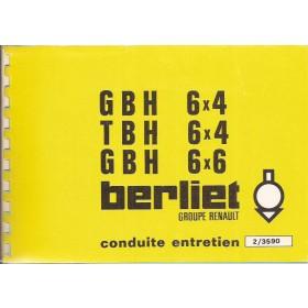 Berliet GBH/TBH Instructieboekje Diesel Fabrikant 77 ongebruikt Frans