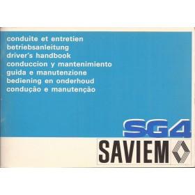 Saviem SG4 Instructieboekje Diesel Fabrikant 76 ongebruikt Nederlands/Frans/Duits/Engels/Italiaans/Spaans