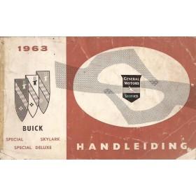 Buick Skylark Special Instructieboekje   Benzine Fabrikant 63 met gebruikssporen losse voorkaft Nederlands