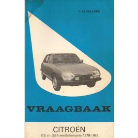 Citroen GS/GSA Vraagbaak P. Olyslager  Benzine Kluwer 78-82 met gebruikssporen vochtschade  Nederlands