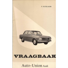 Audi Coach-Sedan Vraagbaak P. Olyslager  Benzine Kluwer 66-67 ongebruikt   Nederlands