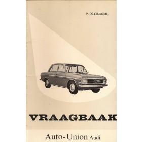 Audi Coach-Sedan Vraagbaak P. Olyslager  Benzine Kluwer 66-67 met gebruikssporen   Nederlands
