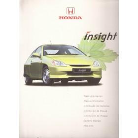 Honda Insight, persdossier, 00, met gebruikssporen, Engels/Frans/Nederlands