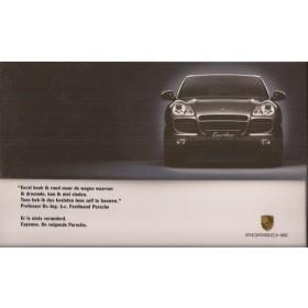 Porsche Cayenne, introductiemap met videoband, 02, ongebruikt, Nederlands