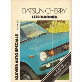 Datsun 100A/120A Leer 'm kennen K. Ball  Benzine Kluwer 71-75 met gebruikssporen met notities  Nederlands